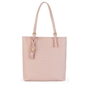 Pink Leather Sherton Shopping bag
