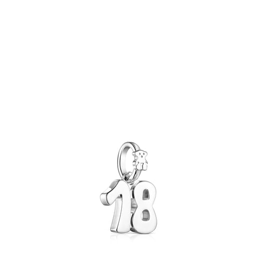 Colgante número 18 de plata Numbers