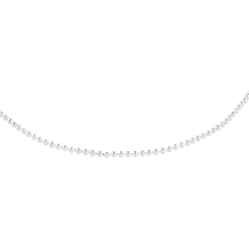 Long 80 cm Silver TOUS Chain Chain with 2.2 mm balls.