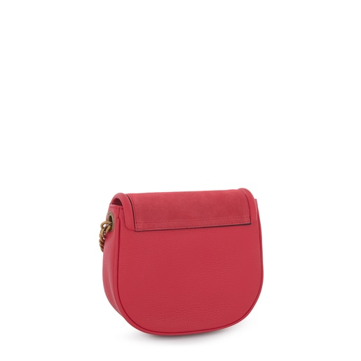 Red T Hold Chain leather crossbody bag