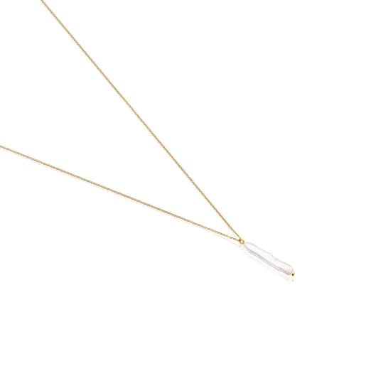 Gold Luz Necklace with Pearl