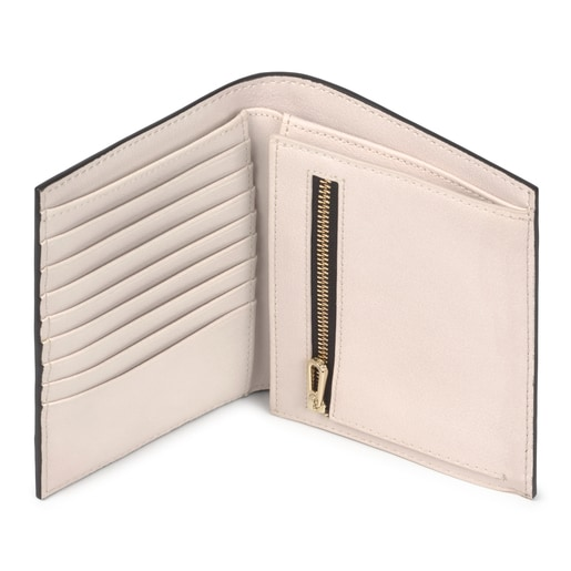 Small black and beige New Dorp Wallet
