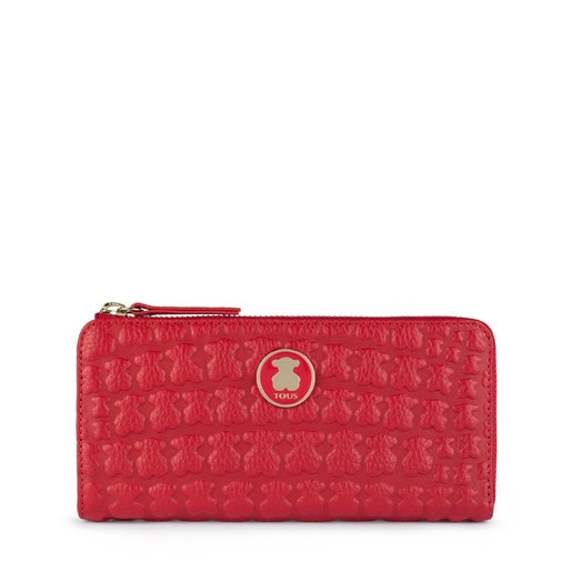 Medium red Leather Sherton Wallet