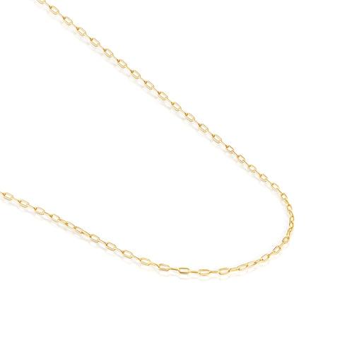 Mittellange Halskette TOUS Chain aus Vermeil-Silber, 60cm lang.