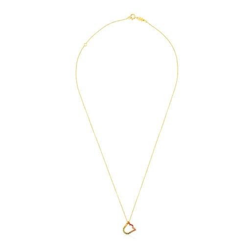 Halskette Icon Gems aus Gold mit Edelsteinen