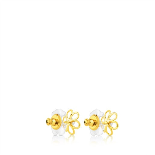 Gold Maggie Earrings with Pearl
