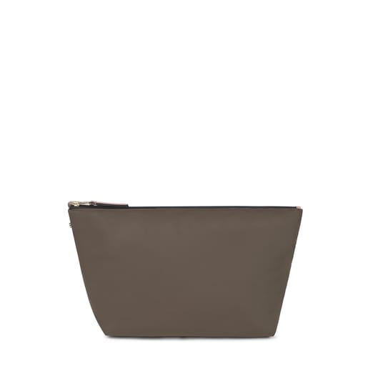 Medium khaki Kaos Shock Shelby reversible Handbag