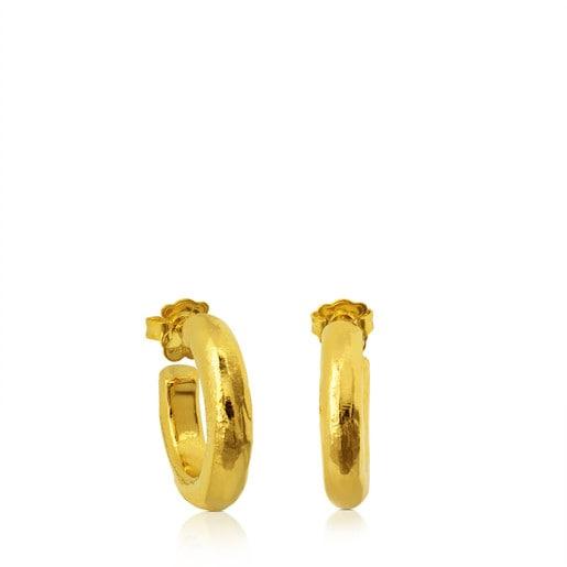 Σκουλαρίκια Duna Tube από ασήμι vermeil
