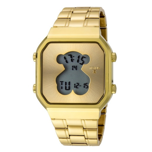 Gold IP Steel D-Bear SQ Watch