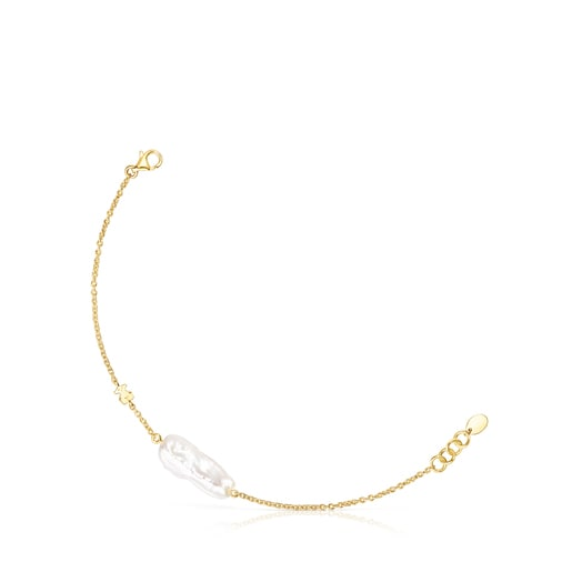 Silver Vermeil TOUS Pearls Bracelet with Pearl