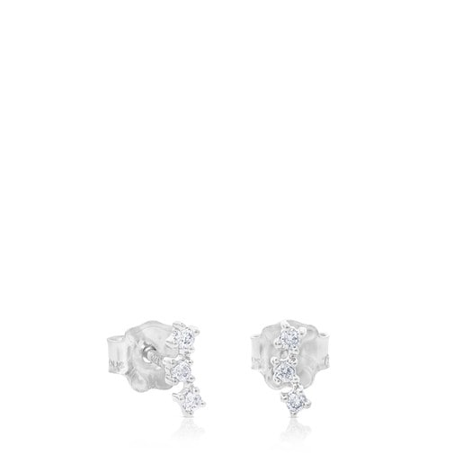 Pendientes Eklat de Oro blanco con Diamantes