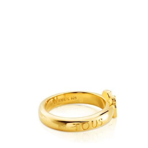 Vermeil silver Gen Ring with Sapphire