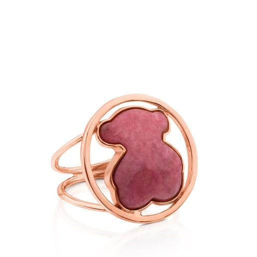 Δαχτυλίδι Camille από ροζ Ασήμι Vermeil με Ροδονίτη