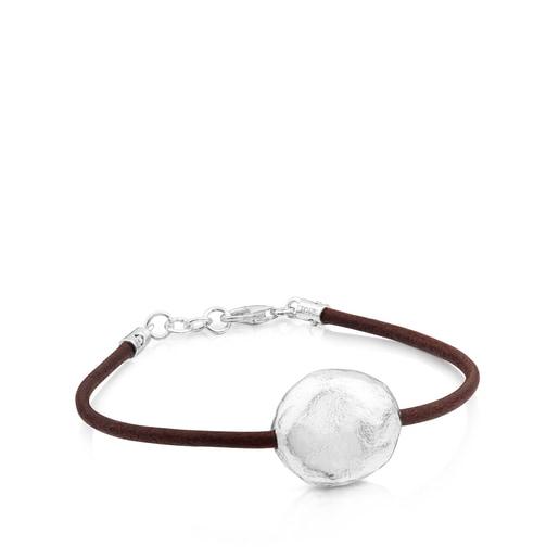 Bracelet Duna en Argent et Cuir.