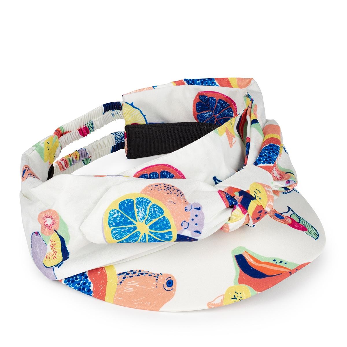 Summer Multi visor in white with fruit print