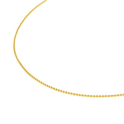 Cadena TOUS Chain de oro de bolas de 1,2mm, 45cm.