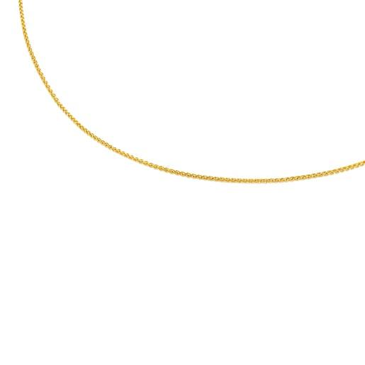 Enge Halskette TOUS Chain aus Gold, 45cm lang mit Kordel.
