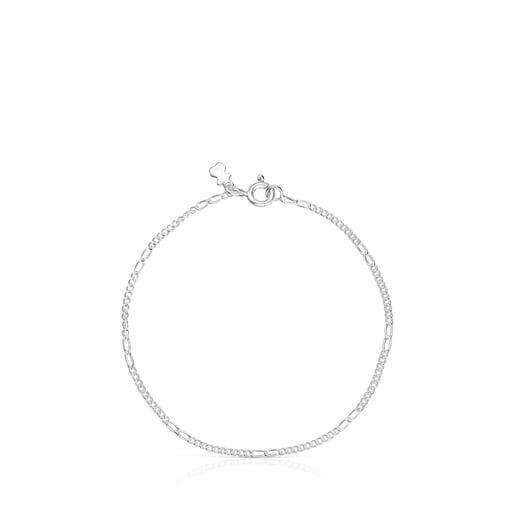 Lot de Bracelets TOUS Chain en Argent et Argent Dark Silver