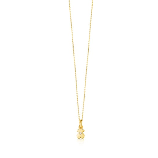 Gold Somni Necklace with Diamond
