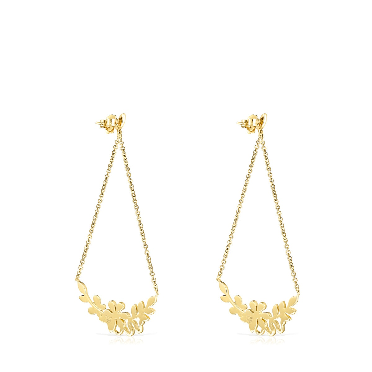 22b0009ce19af Long Gold Vermeil Real Mix Leaf Earrings