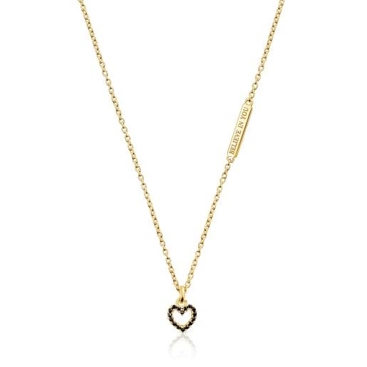 Collaret amb penjoll cor de plata vermeil Sant Valentí
