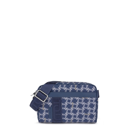 Medium navy Tous Logogram crossbody bag