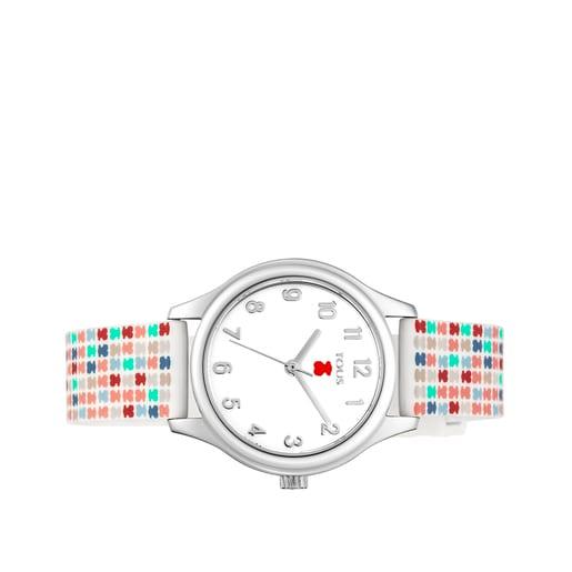 Rellotge Tartan Kids d'acer amb corretja de silicona multicolor