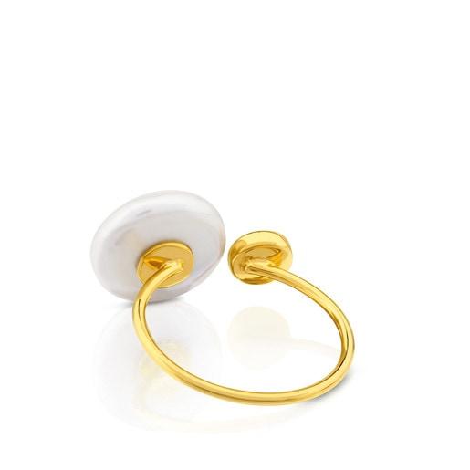 Anel Alecia em ouro com pérola.