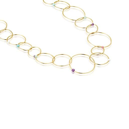 Collar Batala de Plata Vermeil con Gemas