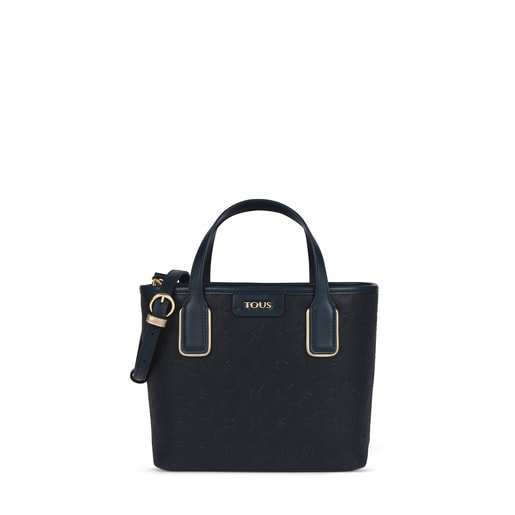 Small navy blue Script Day Tote bag