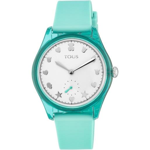 Rellotge Free Fresh d'acer i policarbonat amb corretja de silicona menta