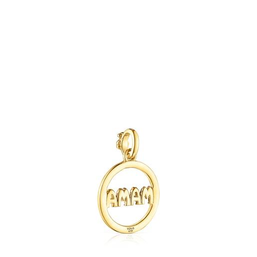 Gold TOUS Mama Pendant with Diamonds