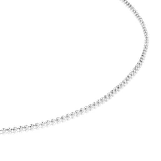 40 cm Silver TOUS Chain Choker with 1.4 mm balls.