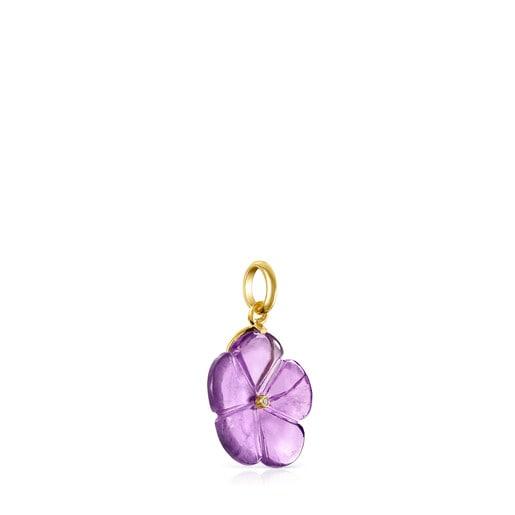 Colgante Vita de Oro con Amatista y Diamante