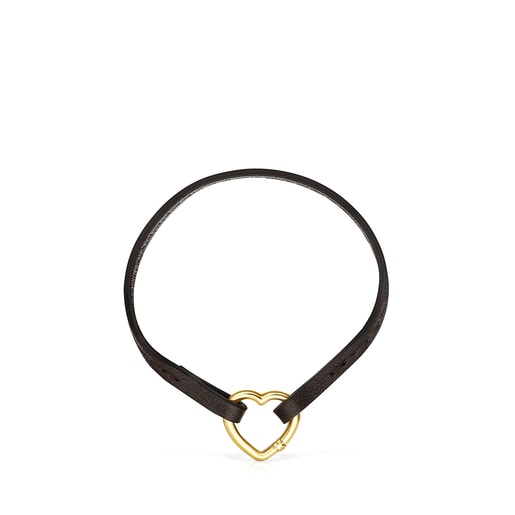 Hold Gold and brown Leather Bracelet