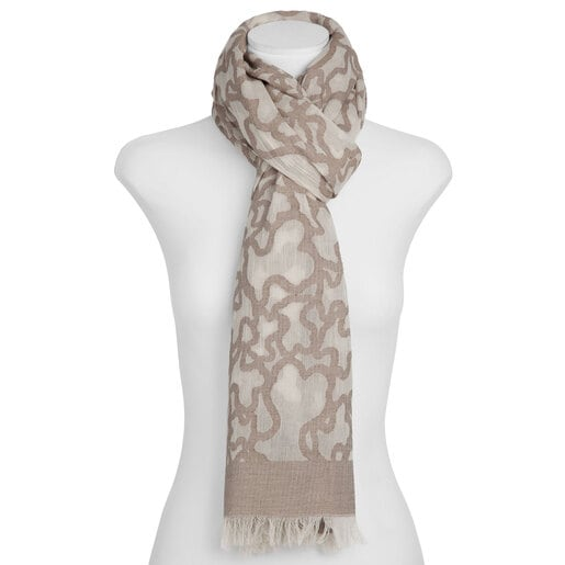 Foulard Kaos en color piedra