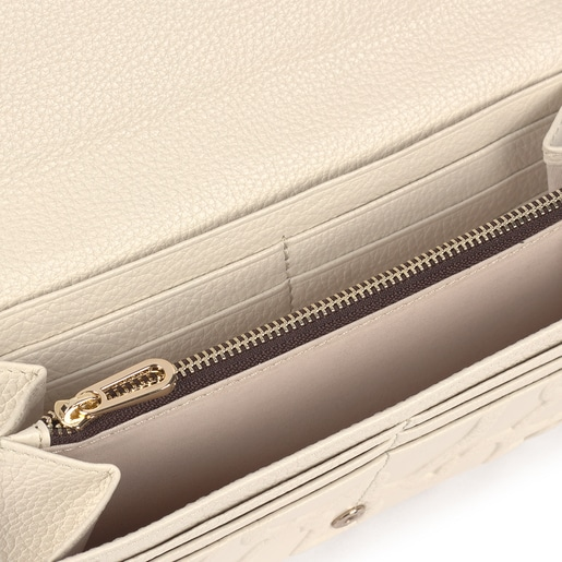 Medium beige leather Tous Icon wallet