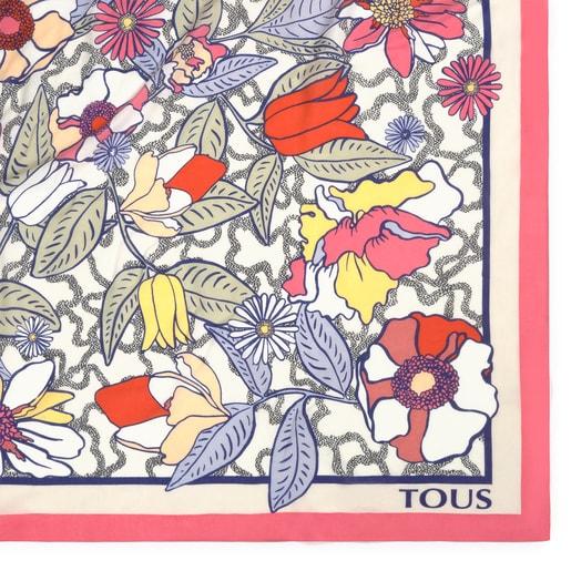Multicolored Kaos Icon Blossom Scarf
