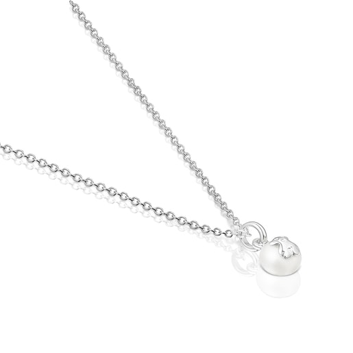 Collar Icon Pearl de plata y perla
