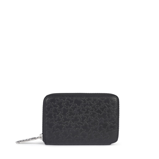 Small black leather Sira wallet