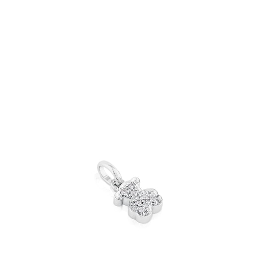 White Gold TOUS Bear Pendant