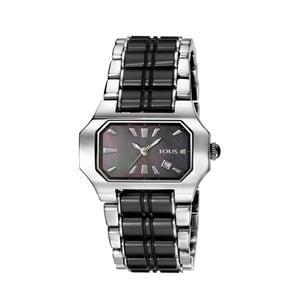 Rellotge Bel-air d'acer amb baules de ceràmica negra