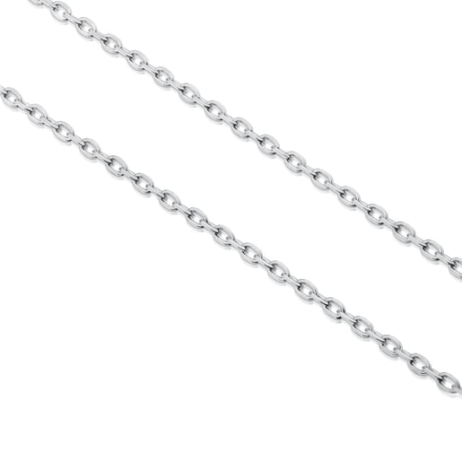 Long 80 cm Silver TOUS Chain Chain with oval rings.