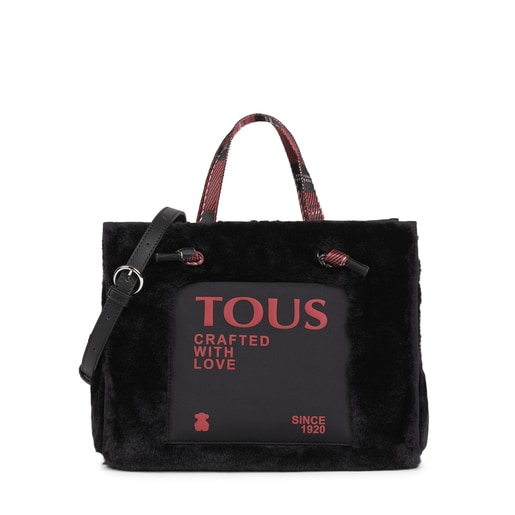 Medium black Amaya Fur Shopping bag