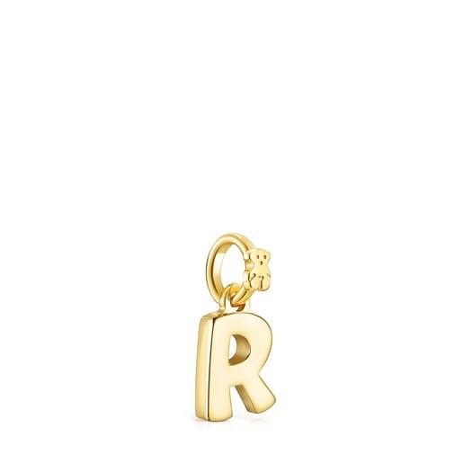 Pendentif Alphabet lettreR en Or Vermeil