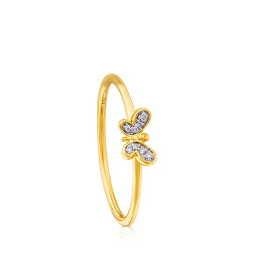 TOUS Bera Ring in Gold with Diamonds.