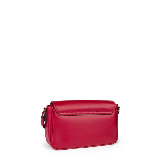 Red Leather Zafiro Crossbody bag