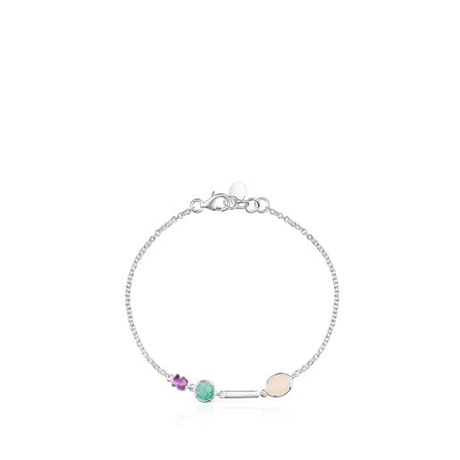Pulsera Cool Color de plata y gemas