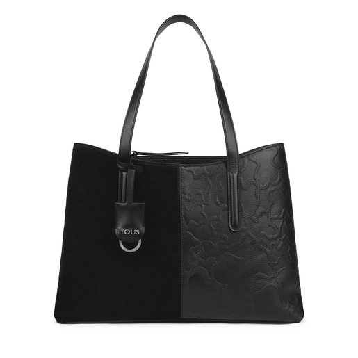 Shopping grande Tous Icon de piel negro