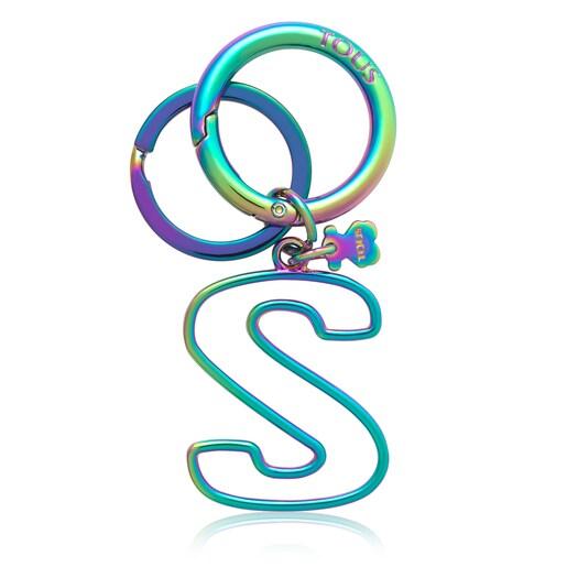 Iridescent Touscedario Letter S Key ring